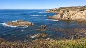 рыбаки : Cliffs on the beach Vila Nova de Milfontes Alentejo Portugal Стоковые видеозаписи