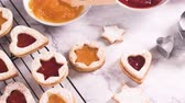 cana : Homebaked Christmas Cookies With fruit Jam filling and Icing Sugar.