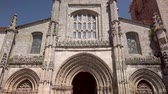 cantaria : Details of the main facade of the Cathedral of Lamego, Portugal.
