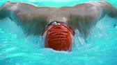 antreman : Xtrem close up  of a swimmer doing the butterfly stroke (part of a series)