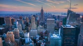 4k : 4K UltraHD A beautiful timelapse of nightfall in the heart of Manhattan Stock Footage