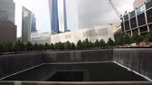 terrorist : A view of the 911 Memorial, Manhattan Stock Footage