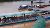 lamacento : Passenger boats docked in the Amazon