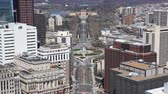clock : An aerial view of Philadelphia with the Museum of Art in the background Stock Footage