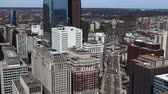 philadelphia pennsylvania : An aerial view of Philadelphia Pennsylvania with the Museum of Art in the background Stock Footage