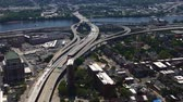 new house : 4K UltraHD Aerial timelapse of traffic in Albany Stock Footage