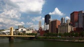 pittsburgh : 4K UltraHD Timelapse Pittsburgh skyline on a fine day Stock Footage