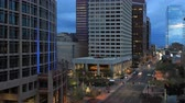 viagens de negócios : 4K UltraHD Day to night timelapse view of Phoenix city center Stock Footage