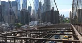 usa : 4K UltraHD View of the traffic on the Brooklyn Bridge Stock Footage