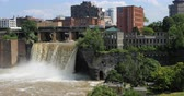 4K UltraHD View of the High Falls in the city of Rochester Stock mozgókép