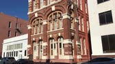 classic architecture : Historic Galveston News Building built in 1884. Galveston, Texas 4K