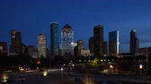 Twilight timelapse of the Houston, Texas city center 4K Dostupné videozáznamy