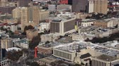 Aerial timelapse view of San Antonio city center 4K