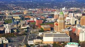 Техас : Aerial timelapse of San Antonio city center 4K Стоковые видеозаписи