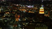 Aerial timelapse, San Antonio downtown at night 4K