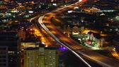 полушарие : Aerial timelapse of San Antonio expressways at night 4K