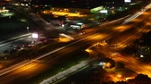 Aerial timelapse, San Antonio, Texas intersection at night 4K Dostupné videozáznamy