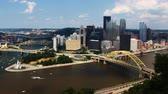 pittsburgh : Timelapse aerial of the Pittsburgh city center 4K