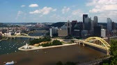 pittsburgh : Aerial timelapse of the Pittsburgh skyline 4K