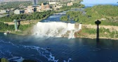 협곡 : Aerial view of the American Falls, Niagara Falls 4K
