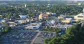 niagara : Aerial of downtown Niagara Falls during day 4K Stock Footage