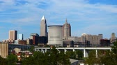 color image : Timelapse of the Cleveland downtown 4K
