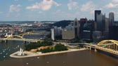 pensilvanya : Cinemagraph, Looped, Timelapse  in Pittsburgh Stok Video
