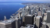 Сиэтл : Aerial timelapse Seattle, Washington city center 4K