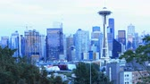 Сиэтл : Day to night timelapse in Seattle, Washington city center 4K Стоковые видеозаписи