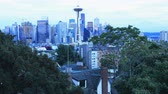 Вашингтон : Day to night timelapse Seattle, Washington downtown 4K