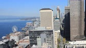 Сиэтл : Timelapse aerial Seattle, Washington city center 4K