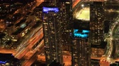 semt : Timelapse aerial scene of Toronto, Canada after dark 4K Stok Video
