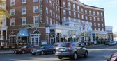 pohostinství : Scene of the Northampton Hotel in Northampton, Massachusetts 4K