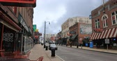 memphis : Scene of famous Beale St. in Memphis, Tennessee 4K Stock Footage
