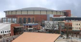 liga : View of the FedExForum in Memphis, Tennessee 4K Archivo de Video