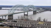 i city : Timelapse of Bridge over Mississippi River at Memphis, Tennessee 4K Stock Footage