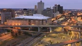 apartamentos : Day to night timelapse of Memphis, Tennessee city center 4K Stock Footage
