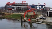 stadyum : Timelapse Nissan Stadium in Nashville, Tennessee 4K Stok Video