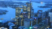 pontes : Day to night aerial timelapse of Sydney, Australia skyline 4K