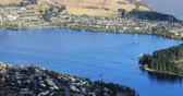 falu : Aerial of bay at Queenstown, New Zealand 4K