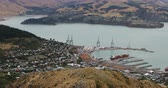 christchurch : Aerial of Lyttelton, New Zealand by Christchurch 4K Stock Footage