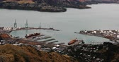 뉴질랜드 : Aerial view of Lyttelton, New Zealand by Christchurch 4K