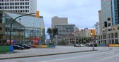 Street scene in Winnipeg, Manitoba 4K Stock Footage