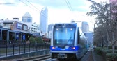 Rapid Transit leaving a station in Charlotte, United States 4K