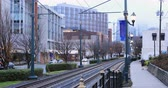 Street and transit scene in Charlotte, North Carolina 4K