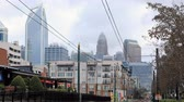 emelvény : Timelapse of Rapid Transit vehicle arriving in Charlotte, North Carolina 4K