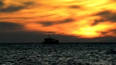 bałtyk : Sunset over the Baltic Sea with boat