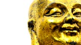 figuras : Buddha figure, head with camera drive Stock Footage