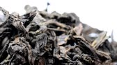 fermented : Pu-erh tea, raw tea, closeup on a turn table
