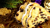 굽​​기 : German Christmas stollen on turn table